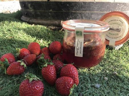 Confiture de fraise à la verveine bio