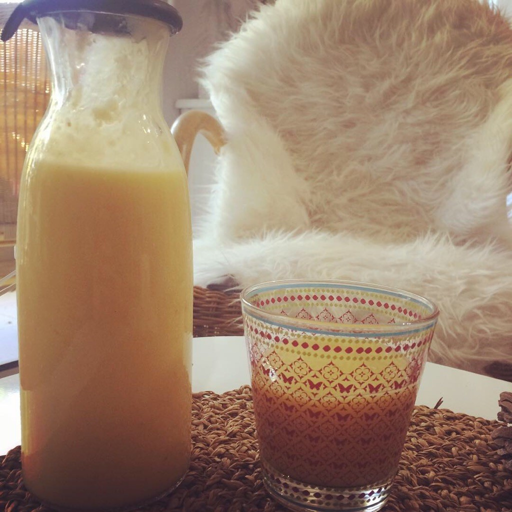 Smoothie lait de mangue